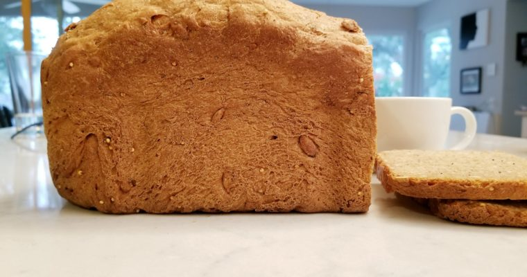Seeded bread with pre-ferment