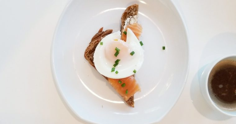 Salmon benny with IP- poached eggs