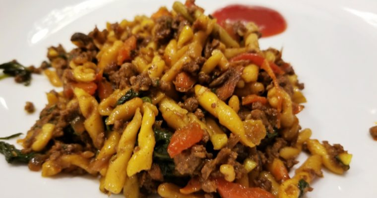 Weeknight Stir Fried Noodles with Lamb